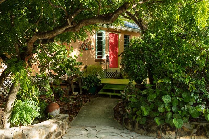 Entry to Paradise. - Artists Island home w/ yoga deck on GraceBayBeach - Providenciales - rentals