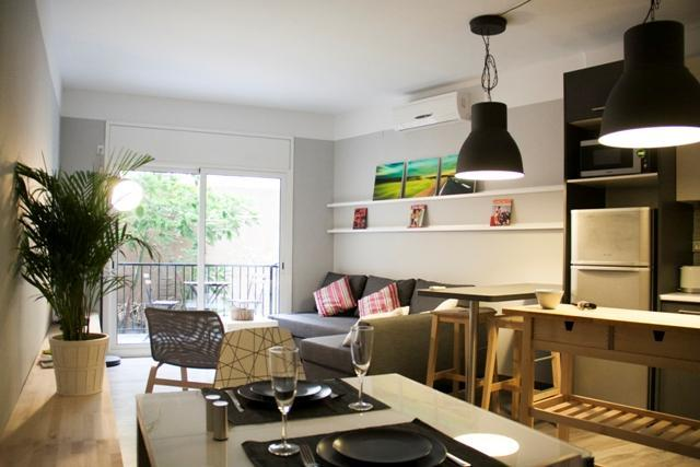 View of living area - Idyllic apartment with TWO TERRACES - Barcelona - rentals