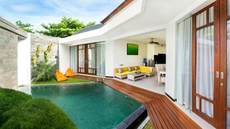 Pool area - Beautifully designed 2 BR villa, 5 min to beach - Canggu - rentals