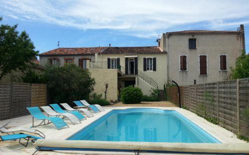 11m long pool - Family house with pool - Servian - rentals