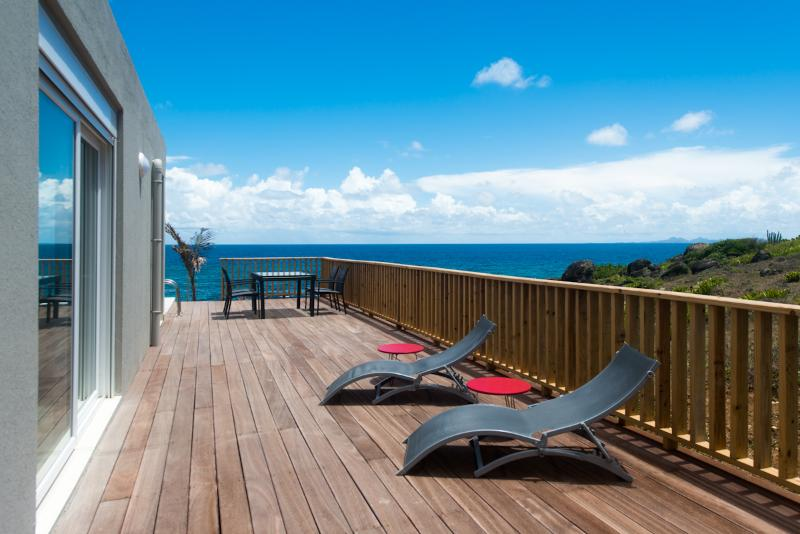 Terrace - Ocean View - Villa Bleu Matisse: Amazing View on Ocean - Oyster Pond - rentals