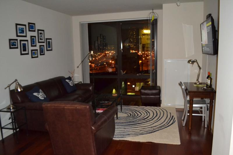 Living Room View at Night - Canal Street Indigo Luxury West End - Great Views - Boston - rentals