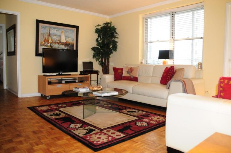 Spacious Living room can accommodate and extra two - Spacious One Bedroom on Peachtree St (Central Downtown) - Atlanta - rentals