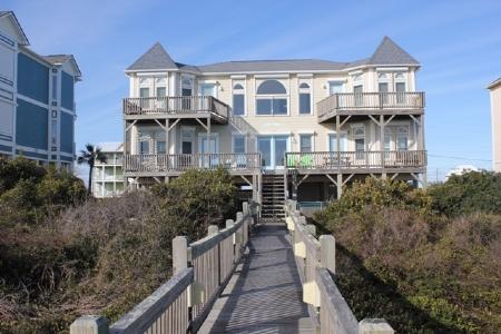 Oceanfront Exterior - Sand Castle-SAT 4BR - Emerald Isle - rentals