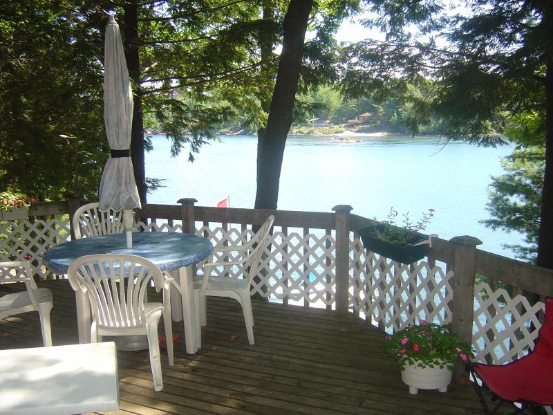 view of water from the deck at cottage - Rose Is cottage in 30,000 Islands of Georgian Bay - Parry Sound - rentals