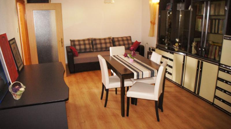 Living room & bedroom - Beautiful & comfortable studio flat, Omisalj, Krk - Omisalj - rentals