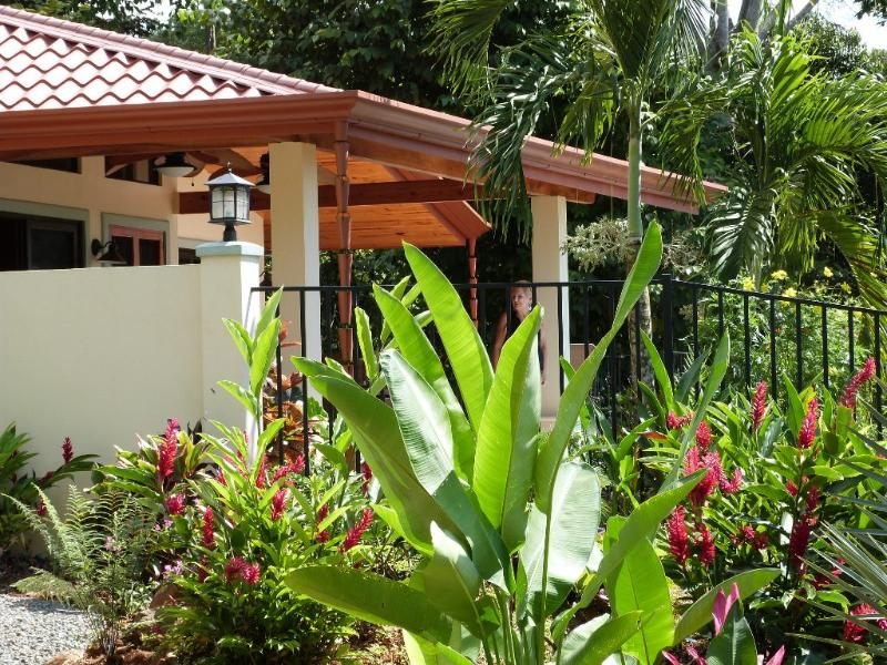 Surrounded by lush landscaping - Casa Feliz -  Beautiful NEW Casa w/ Big Ocean View - Dominical - rentals