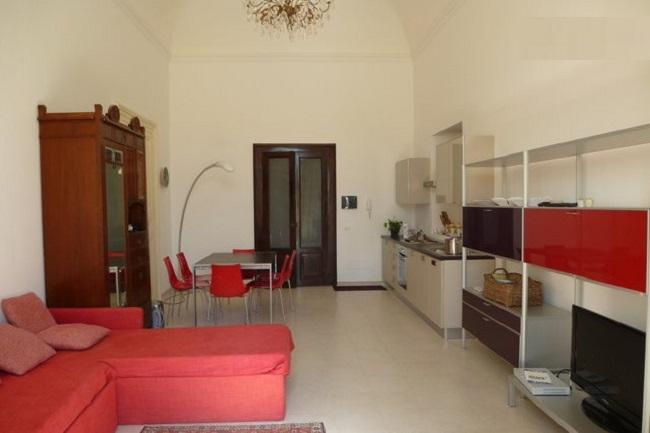 Living room with kitchen, dining area, sofa beds - Ortigia, Beautiful flat Immacolata with wi-fi - Syracuse - rentals