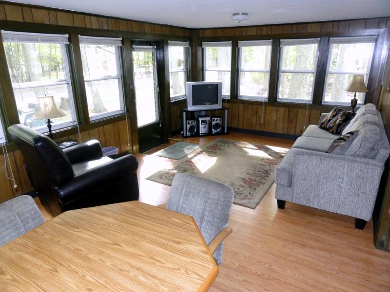 Panoramic view into woods, all new furniture throughout house. - Modern Tawas Lake Home, Pets OK, Boat, Deck - East Tawas - rentals
