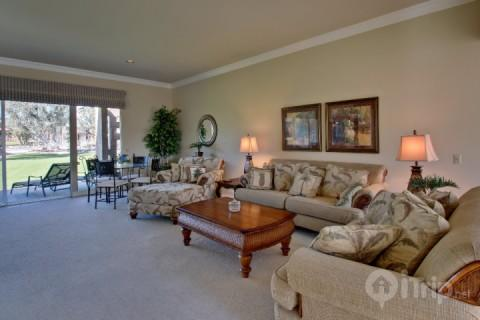 Living Room with Flat Screen TV (not shown) - 3 Master Suites Garden Oasis Nestled Against Eisenhower Mountain - Indian Wells Country Club - Indian Wells - rentals
