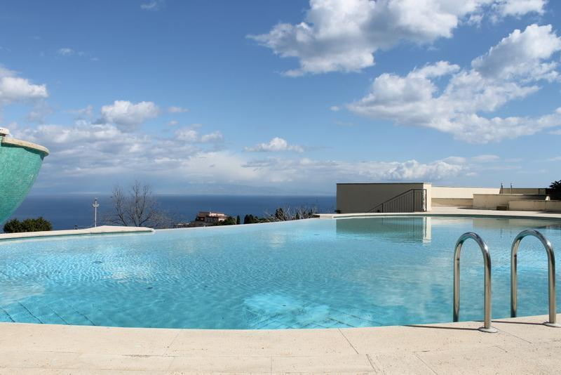 pool and view from apartment - Taormina Chic Apartment , Pool , Parking , Center - Taormina - rentals