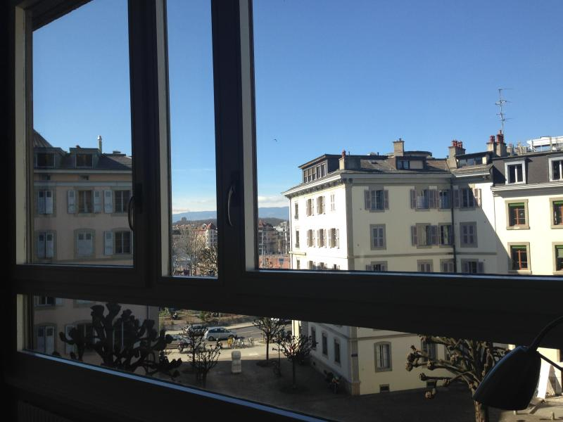 view from the living room - Very Calm & Cosy Aptmt up to 4p. in Geneva center! - Geneva - rentals