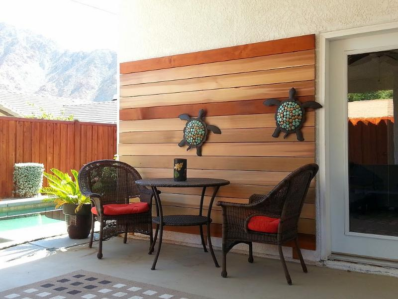 Patio by the pool - Beautiful Modern Pool Home - La Quinta - rentals