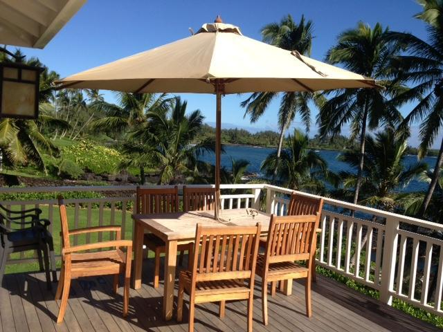 Private lanai - Beautiful Oceanfront  Beach Cottage at Hana Bay - Hana - rentals