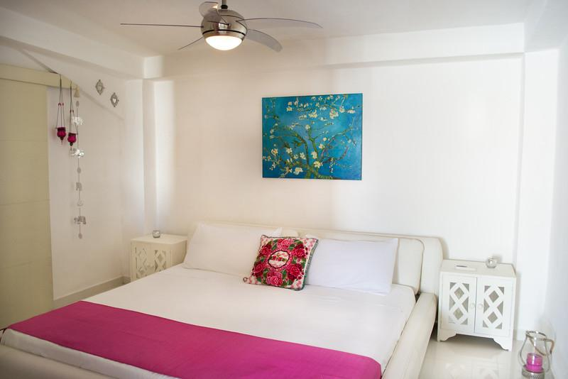 confortable king bed with 100% cotton linens - Cozy little House  tulum 1-4 Guests - Tulum - rentals