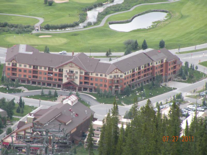 My Summer hike looking down at our condo - Ski In & Ski Out Copper Spring lodge Luxury Condo - Frisco - rentals