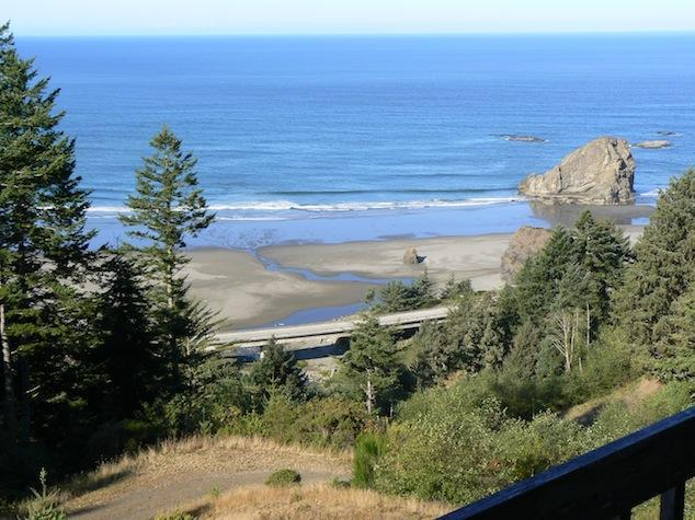 View from house - Avail. 8/30-9/3  Hot tub!! , private beach access - Gold Beach - rentals