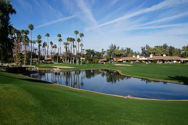 Patio view - 3BR Luxury Palm Desert Condo Monterey Golf Course - Palm Desert - rentals