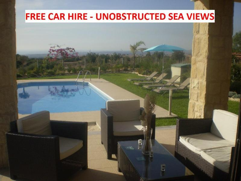 Villa Kallithea - HUGE WOW Factor. 3 bed all en-suite. Pool FREE CAR - Paphos - rentals