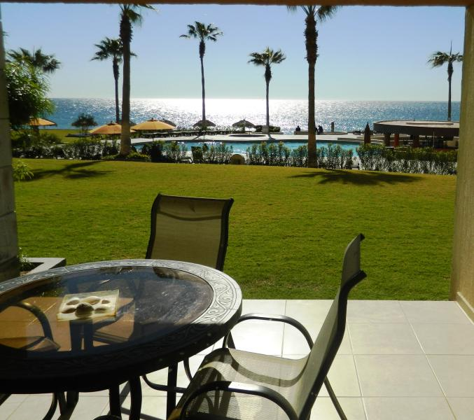 Patio is steps away from the pool and beach ! - Enjoy Our Ground Floor Condo, A Family Favorite ! - Puerto Penasco - rentals