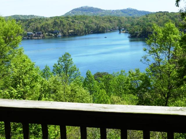 View of Lake Lure from Deck - Log Cabin, Gorgeous Views of Lake Lure & Mountains - Lake Lure - rentals
