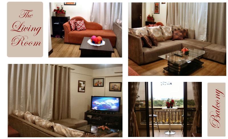 Rental Condo Living Room - Vacation Rental - Resort Condo for Tourists - Las Pinas - rentals