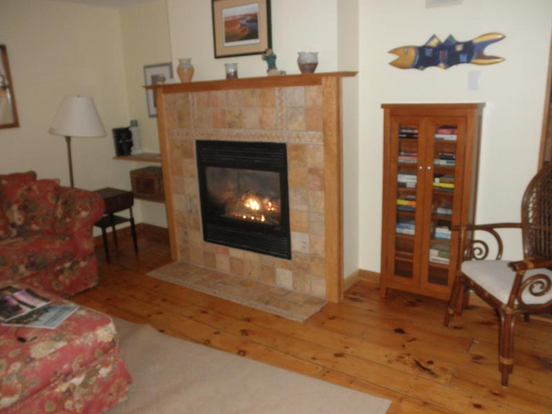 Sitting room with gas fireplace - Spacious, comfortable family gathering spot - Vineyard Haven - rentals