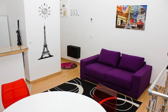 Living room - APARTMENT LA BOHEME PARIS 10 mn from MONTMARTRE - Paris - rentals