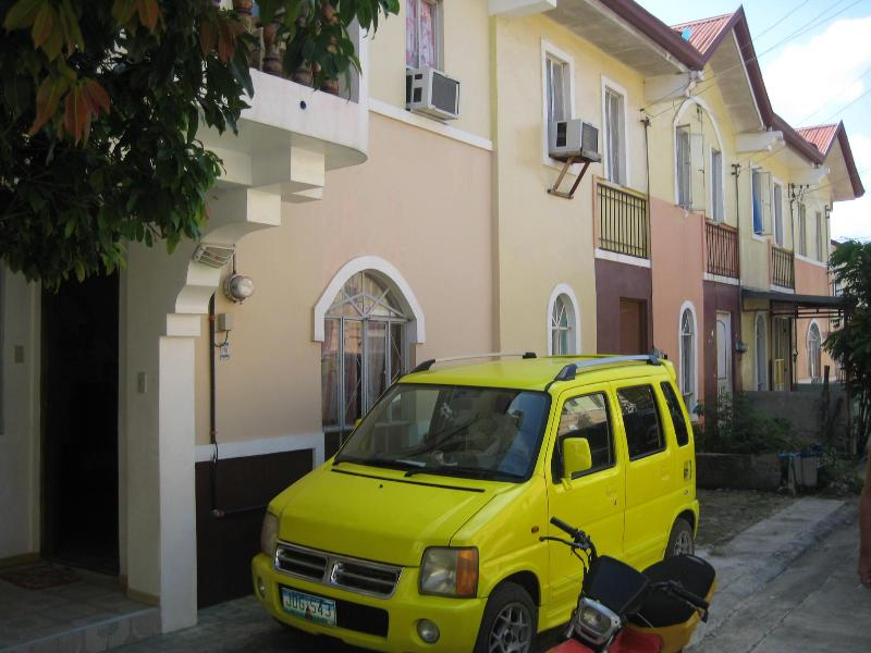 The house from outside - Our two story house at La Aldea del Rio, Mactan, Cebu, - Mactan Island - rentals