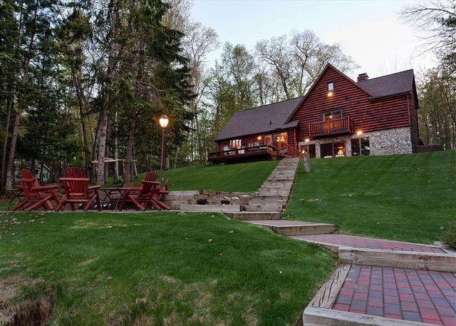 Fire Pit and Grounds - The Eagle Point Private Vacation Rental Home - Eagle River - rentals