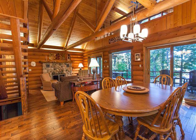 Dining and Living Room Area - The Mishpocheh Private Vacation Rental Home - Eagle River - rentals