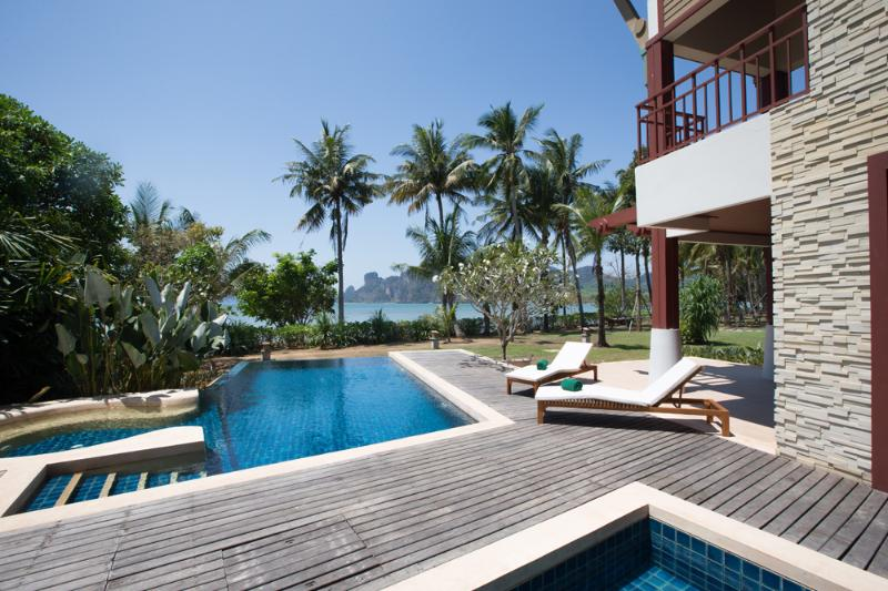 Beachfront villa certainly has a timeless elegance - Krabi Luxury Beachfront Amatapura Pool Villa 1 - Sai Thai - rentals
