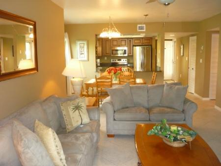 Living Area - Essex N101 - Marco Island - rentals