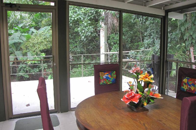 The screen porch, for good wildlife viewing - House in Gamboa Panama, nearly in the rainforest - Gamboa - rentals