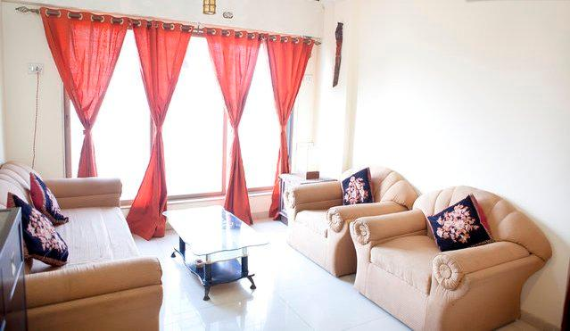 Living Room Layout - Luxury Apartment with a View in Malad West - Mumbai (Bombay) - rentals