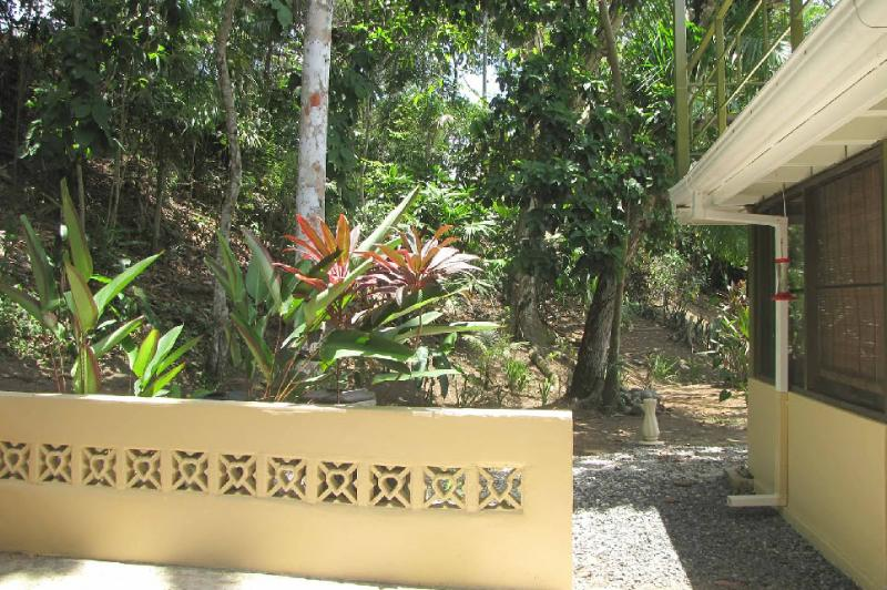 This is a small sitting area outside the back door, where it's fun to watch for wildlife. - One-bedroom apartment, nearly in the rainforest - Gamboa - rentals