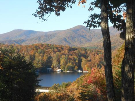 Fall View off the Back Porch - Amazing Lake and Mountain Views! ! ! - Lake Lure - rentals