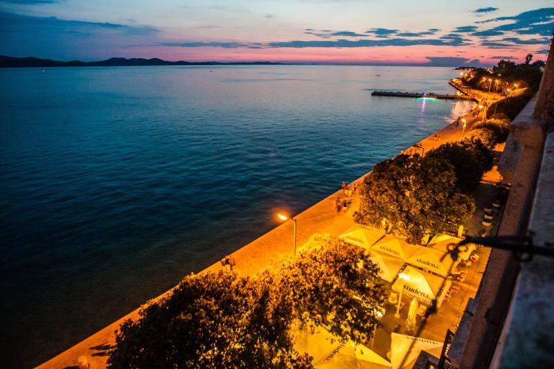 Promenade - View from living room - Bristol luxury apartment 4+2 with 100% sea view - Zadar - rentals