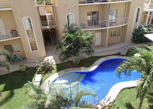 Pool from Balcony - Nice 2 BR Condo - easy walk to the beach! - Tamarindo - rentals