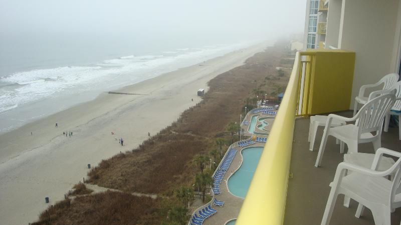 Balcony View - Oceanfront 3-BR condo; accommodates 6-10 people. - North Myrtle Beach - rentals