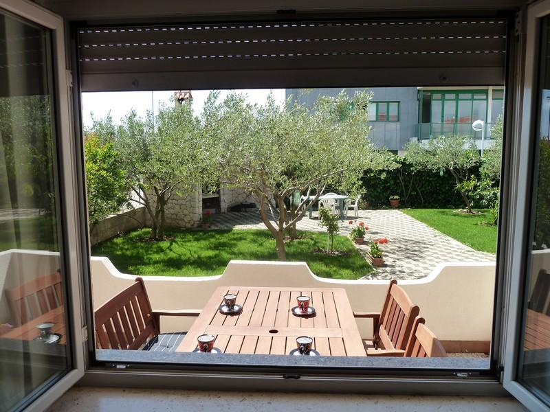 View from the apartment / Garden / BBQ - Apartment Rino - Zadar - rentals