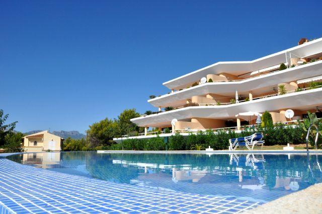 Costa Blanca, Altea, La Vella, pool, golf, sea, beach, dishwasher dutch, satellite, TV, luxury, - Altea Nova apartment A, golf, beach mountaineering - Altea la Vella - rentals