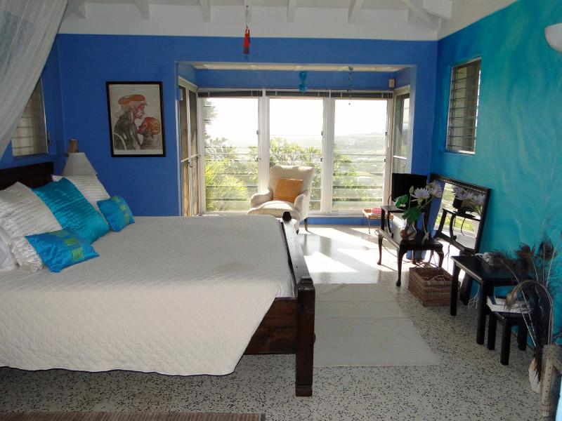 Master bedroom - Mountain top Private Retreat - Romantic Bedroom - Christiansted - rentals