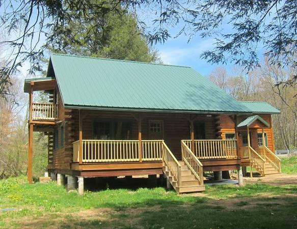 New Log Cabin on Two Picturesque Trout Streams - Image 1 - Titusville - rentals
