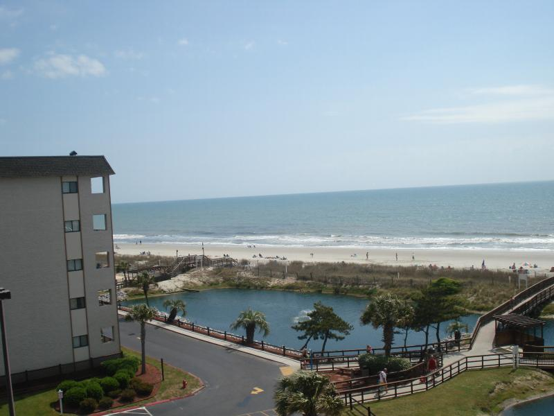 view from porch and window - Beautiful Ocean View from Myrtle Beach Resort Condo with Pool and Jacuzzi - Myrtle Beach - rentals