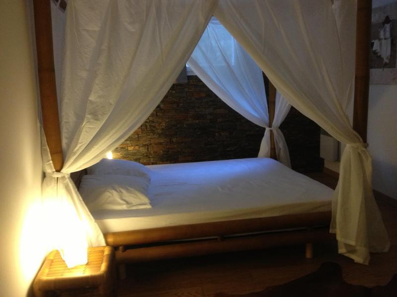 Le coin nuit avec lit à baldaquin - Charming Provence Vacation Rental with a Hot Tub - Peypin - rentals