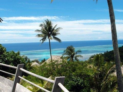 Ocean view from the deck - Moorea  luxury home in private gated residence - Moorea - rentals