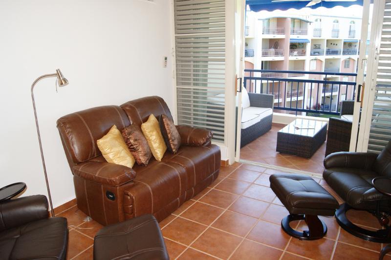 Living room view w/balcony facing the sea - Haciendas del Club IV405 breathtaking views from y - Cabo Rojo - rentals