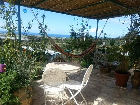 Balcony - Artists Village House with Sea View - Beit Oren - rentals