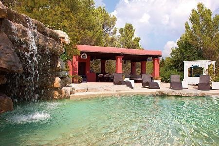 Exceptional Villa Bosque de Pere offers a steam room, infinity pool and wet bar - Image 1 - Ibiza - rentals